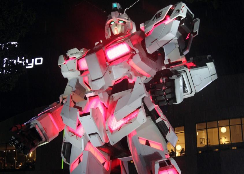 Life-size Gundam in Tokyo