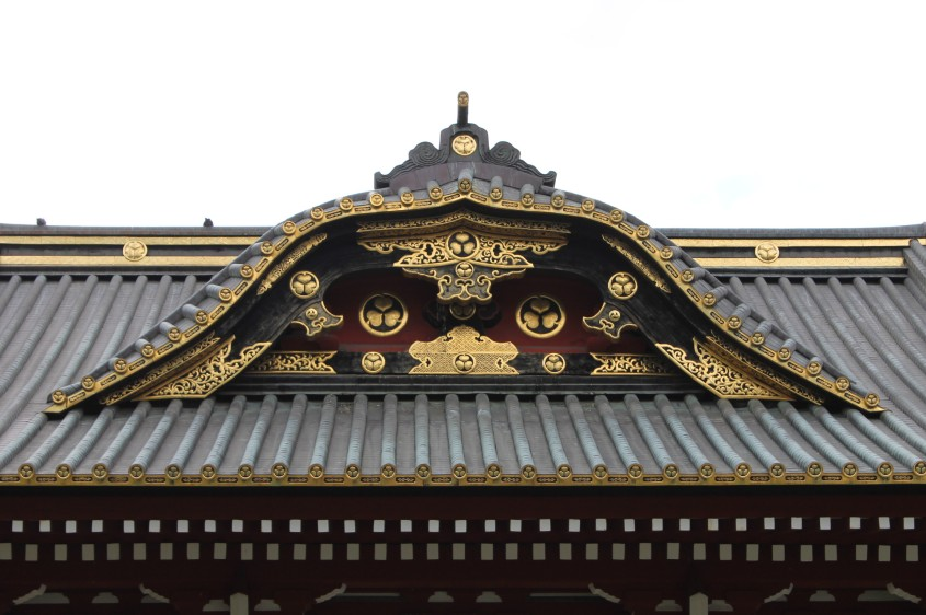 Zōjō-ji Temple: Detail of temple gate