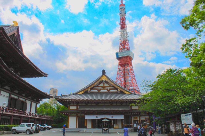 Zōjō-ji Temple and Tokyo Tower