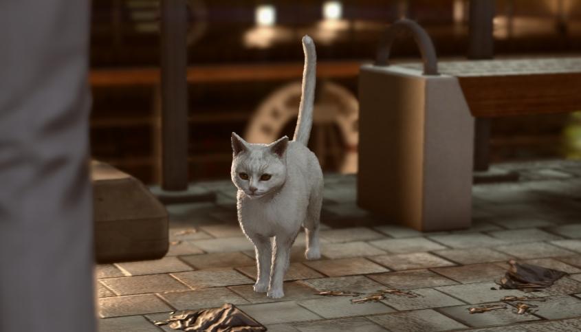 A cat in Yakuza Kiwami 2