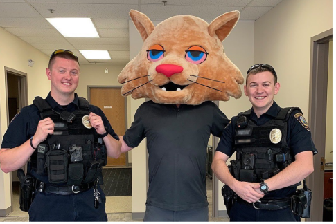 Cops were called to investigate Meowijuana's business in Kansas and the officers made the best of it.